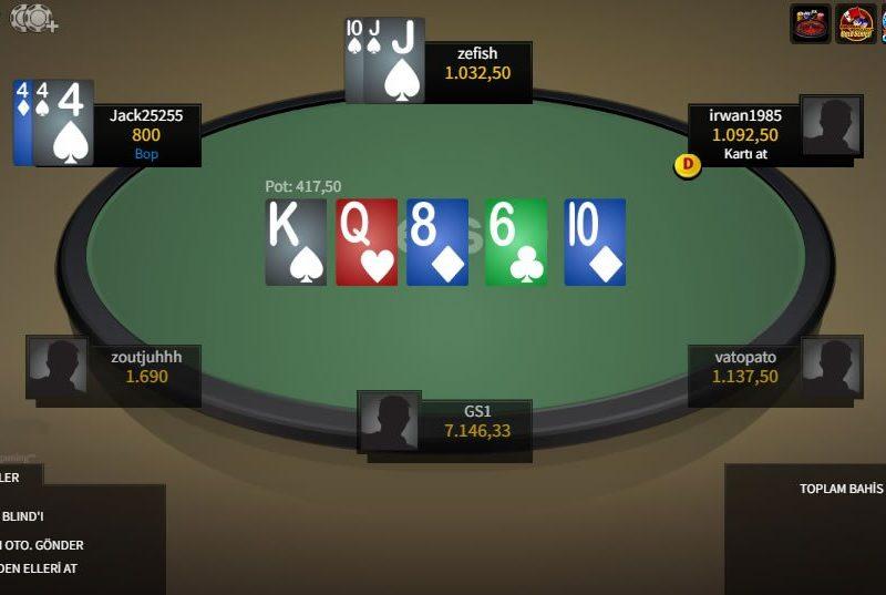 Best10 Poker Masası Görünümü